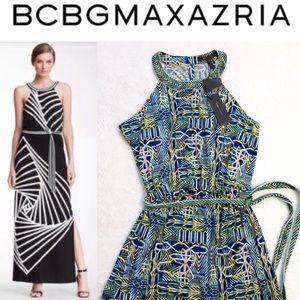 "BCBG MAXAZRIA ""Karsen"" Printed Maxi Dress"